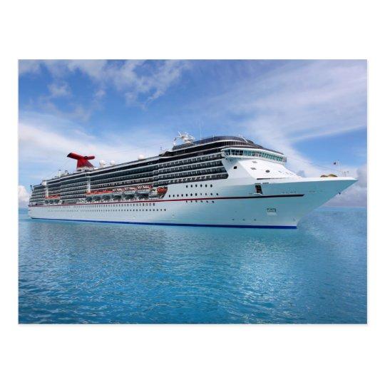 Cruise ship in Caribbean waters Postcard