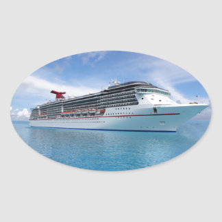 Cruise ship in Caribbean waters Sticker