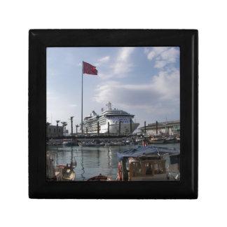 Cruise Ship In Harbor Gift Box
