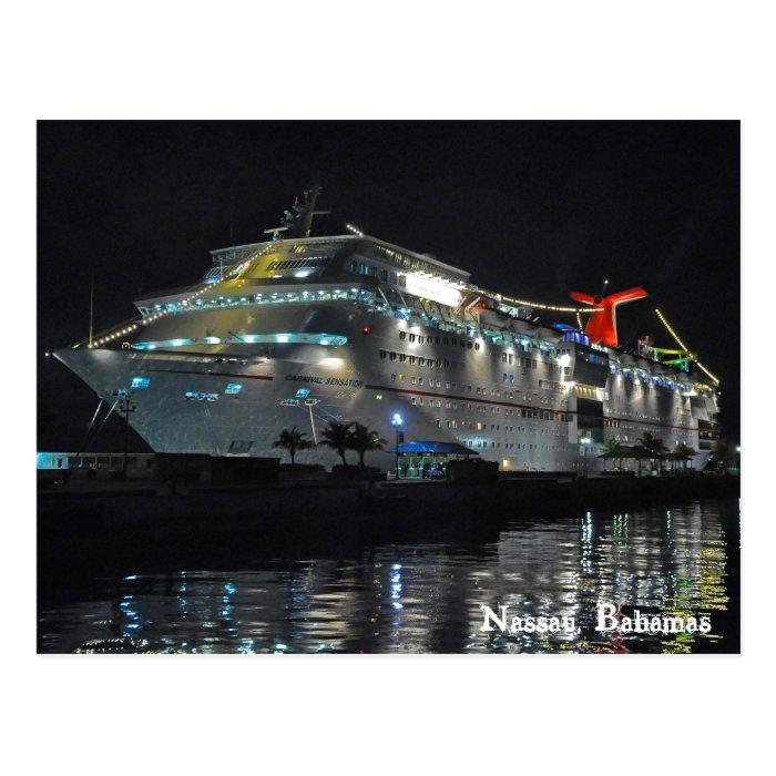 Cruise Ship In Nassau Bahamas Postcard  Zazzle