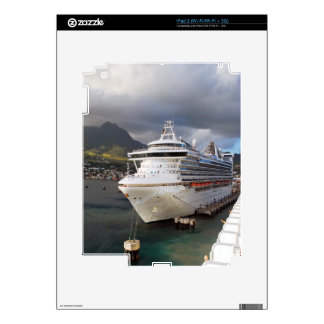 Cruise ship in port iPad 2 skin