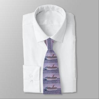 Cruise Ship in Purple Tie