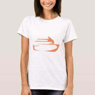 Cruise Ship in Swish Drawing Style T-Shirt
