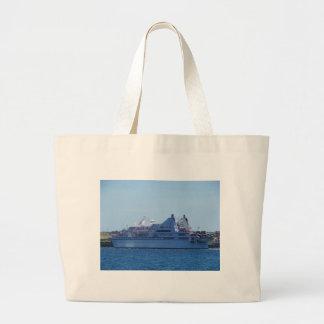 Cruise ship Le Diamant. Large Tote Bag