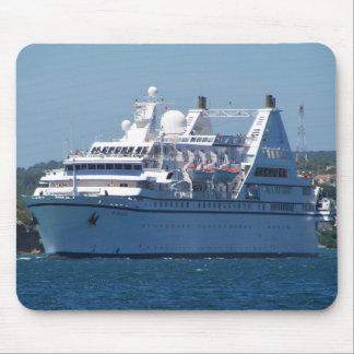 Cruise Ship Leaving Mahon Mouse Pad