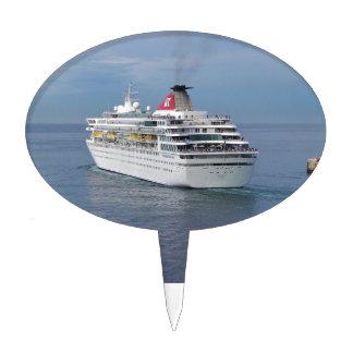 Cruise Ship Leaving Malta Cake Pick