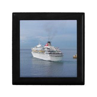 Cruise Ship Leaving Malta Keepsake Boxes