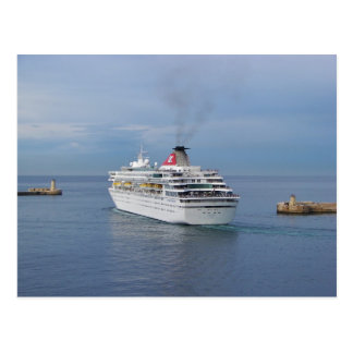 Cruise Ship Leaving Malta Postcard