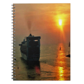 Cruise ship leaving Puerto Vallarta Note Book