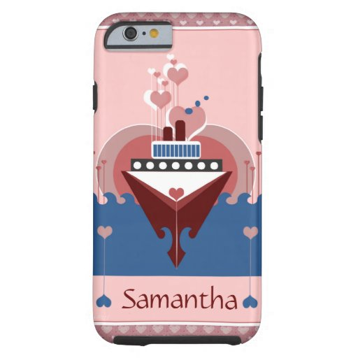 Cruise Ship Love Hearts iPhone 6 Case