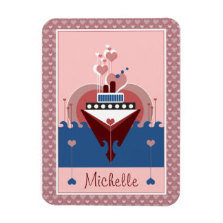 Cruise Ship Love Personalized Flexi Magnet