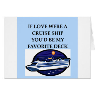 CRUISE ship lovers Greeting Card