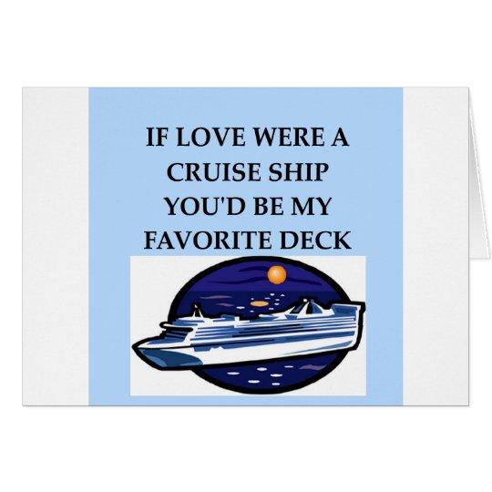 CRUISE ship lovers Card
