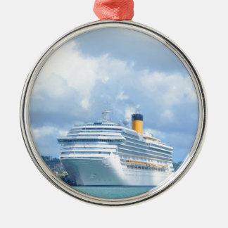Cruise ship metal ornament