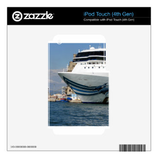 Cruise ship moored in a harbor skin for iPod touch 4G