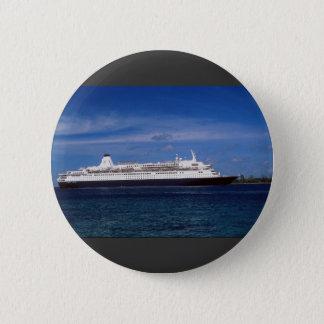Cruise ship, Nassau, Bahamas Pinback Button