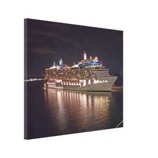 Cruise Ship Night Photography Canvas Print