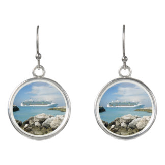 Cruise Ship Off CocoCay Earrings