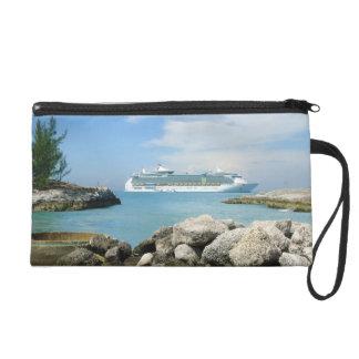 Cruise Ship off CocoCay Wristlet Purse