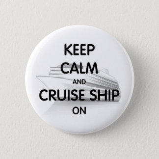 Cruise Ship On Pinback Button