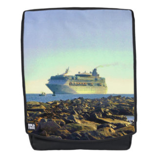 Cruise Ship Passing Jetties Backpack
