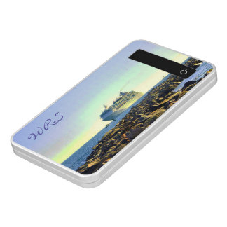 Cruise Ship Passing Jetties Monogrammed Power Bank