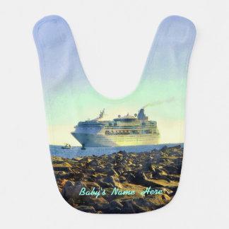 Cruise Ship Passing Jetties Personalized Bib