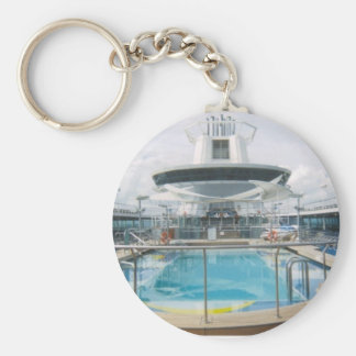 Cruise Ship Pool Keychain
