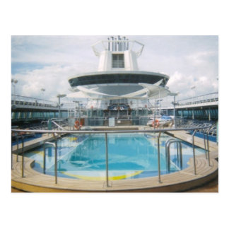 Cruise Ship Pool Postcard