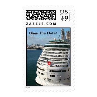 Cruise Ship Postage Stamp