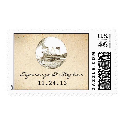 cruise ship postage stamps