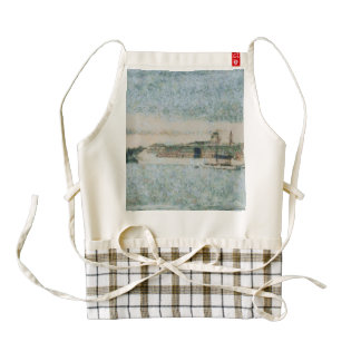 Cruise ship ready for voyage zazzle HEART apron