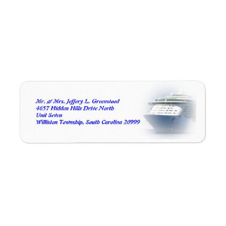 Cruise Ship Return Address Custom Return Address Labels