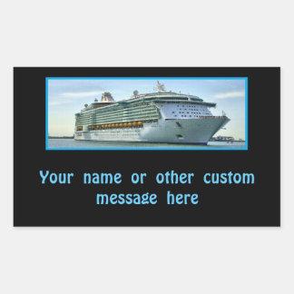 Cruise Ship RFN1 Custom Rectangular Sticker