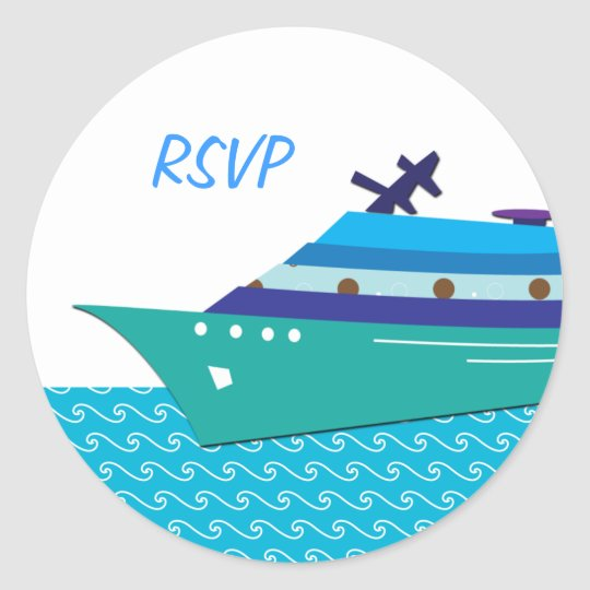 Cruise Ship RSVP Stickers