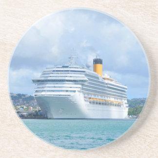 Cruise ship sandstone coaster
