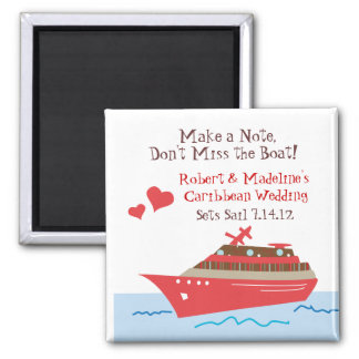 Cruise Ship Save the Date Magnets