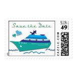 Cruise Ship Save the Date Stamps