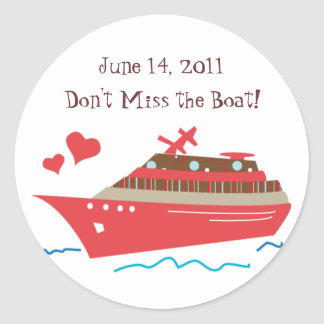 Cruise Ship Save the Date Stickers