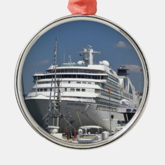 Cruise Ship Seabourn Odyssey Round Metal Christmas Ornament