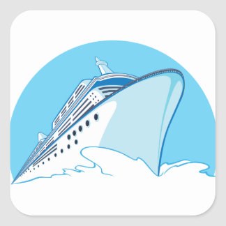 Cruise Ship Square Sticker