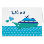 Cruise Ship Table Seating Cards