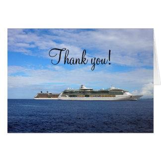 Cruise Ship Vacation | Nautical Thank You Card