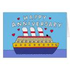 Cruise Ship Wedding Anniversary Card