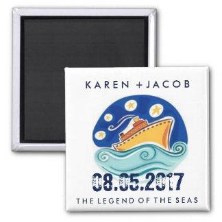 Cruise Ship Wedding Favor Magnets