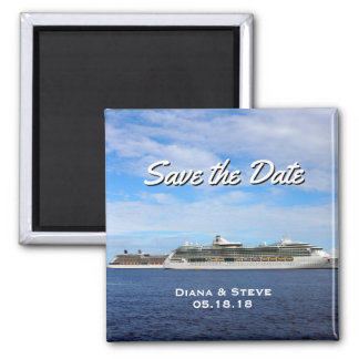 Cruise Ship Wedding Favor   Nautical Save the Date Magnet