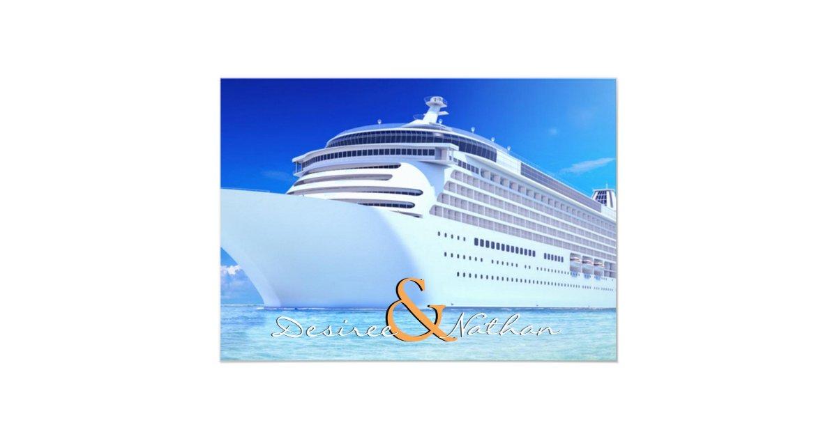 Cruise Wedding Invitations: Cruise Ship Wedding Invitation