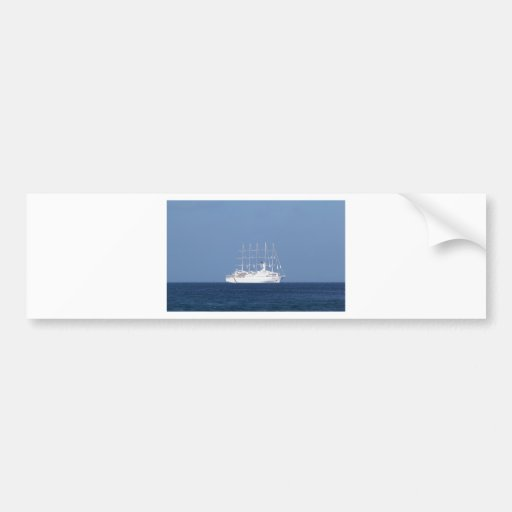 Cruise Ship With Sails Bumper Stickers