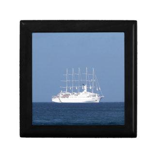 Cruise Ship With Sails Keepsake Boxes