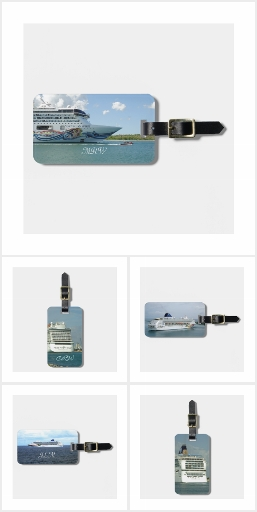Cruise Ships 3 Luggage Tags